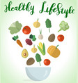 vegetables styleeps vector image