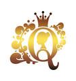 vintage queen silhouette medieval queen profile vector image vector image