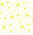 yellow shining star seamless pattern vector image vector image
