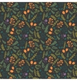 Colorful seamless pattern with decorative flowers vector image