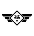 air best force logo simple style vector image vector image