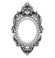 baroque mirror frame french luxury rich vector image vector image