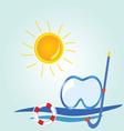 beach stuff icon cartoon vector image vector image