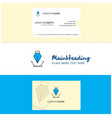 beautiful logo and business card vertical design vector image vector image