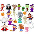 big collections of halloween cartoon vector image