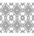 black geometric seamless pattern rhombus vector image