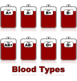 blood types vector image vector image