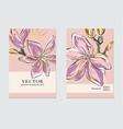 botanical wedding invitation business flyer vector image