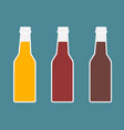 bottles of beer vector image vector image