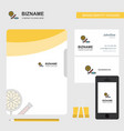 candies business logo file cover visiting card vector image vector image