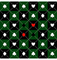 Card Suits Green Black Chess Board Diamond vector image