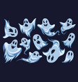 cartoon ghost halloween night holiday characters vector image vector image