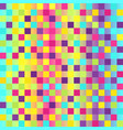 checkered pattern glowing multicolor seamless vector image vector image
