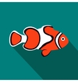 Clown fish icon flat style vector image vector image