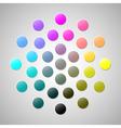 CMYK colors 2 vector image