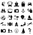 Collection flat icons Travel symbols vector image vector image