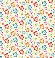 colorful abstract flowers lite seamless pattern vector image vector image