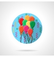 Colorful balloons round flat icon vector image vector image