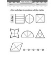 coloring book color fractions vector image vector image
