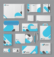 corporate brand identity business stationery vector image