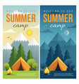 day and night summer camp banners vector image vector image