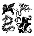 dragon icons vector image vector image