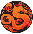 dragon in circle vector image
