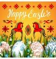Easter Folk Card vector image
