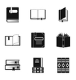 Education book icons set simple style vector image vector image