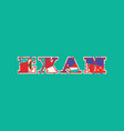 exam concept word art vector image vector image