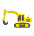 excavator flat icon transport and vehicle digger vector image vector image