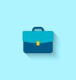 flat icon briefcase vector image