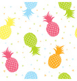 Fresh pineapples colorful seamless texture pattern vector image vector image