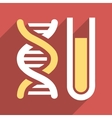 Genetic Analysis Flat Long Shadow Square Icon vector image vector image