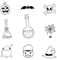 Halloween doodle set collection vector image vector image