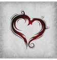 heart baroque red background vector image vector image