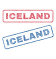 Iceland textile stamps