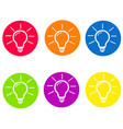 light lamp sign icon idea symbol round colourful vector image vector image