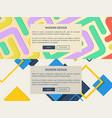 modern design web pages set vector image