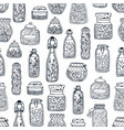 monochrome seamless pattern with homemade vector image vector image