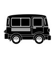 monochrome silhouette with transport van vector image vector image