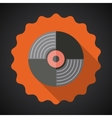 Music Vinyl Record Flat Icon vector image vector image