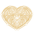 Outline golden heart shape with copy space