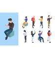 people telephone conversation online social vector image vector image