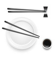 realistic 3d detailed asian food chopsticks set vector image vector image