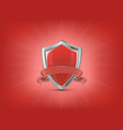 red shield with ribbon vector image