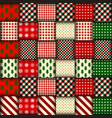 seamless christmas background in patchwork style vector image vector image