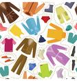 seamless clothes vector image