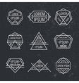 set geometric line hipster logos icons vector image vector image