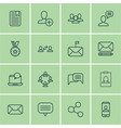 set of 16 social network icons includes talking vector image vector image